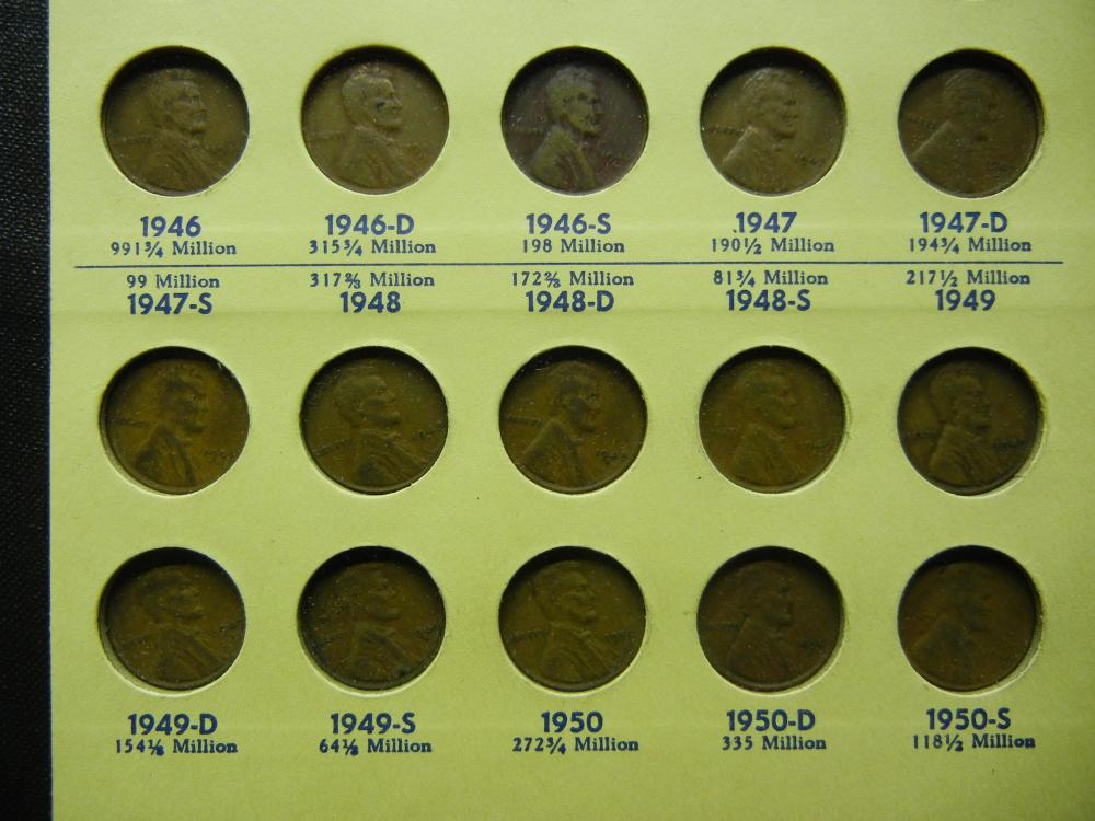 Complete Wheat Cent collection 1941-1958 plus extras  Some