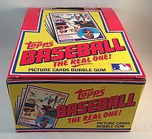 1983 Topps Baseball Empty Box