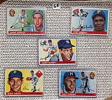 1955 Topps Baseball Lot of 5 Cards - Gene Conley