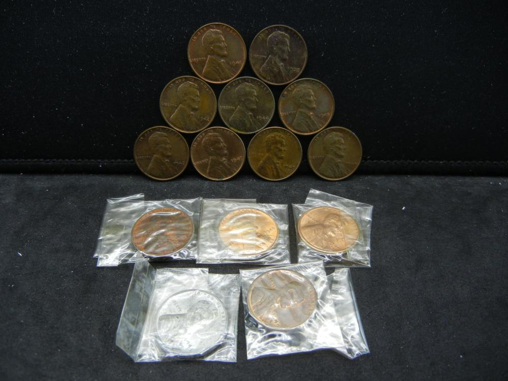 1935 & (13)Lincoln Cents. All Dated in t he 40's with Mint Marks