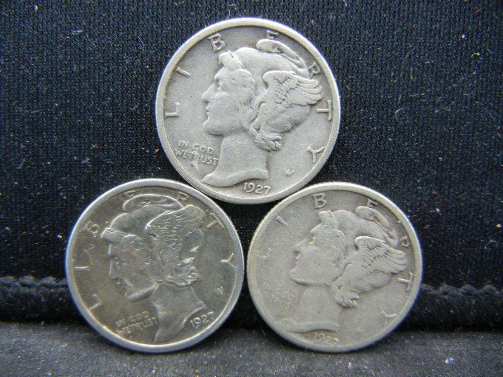 1927-P, D, S Mercury Dimes