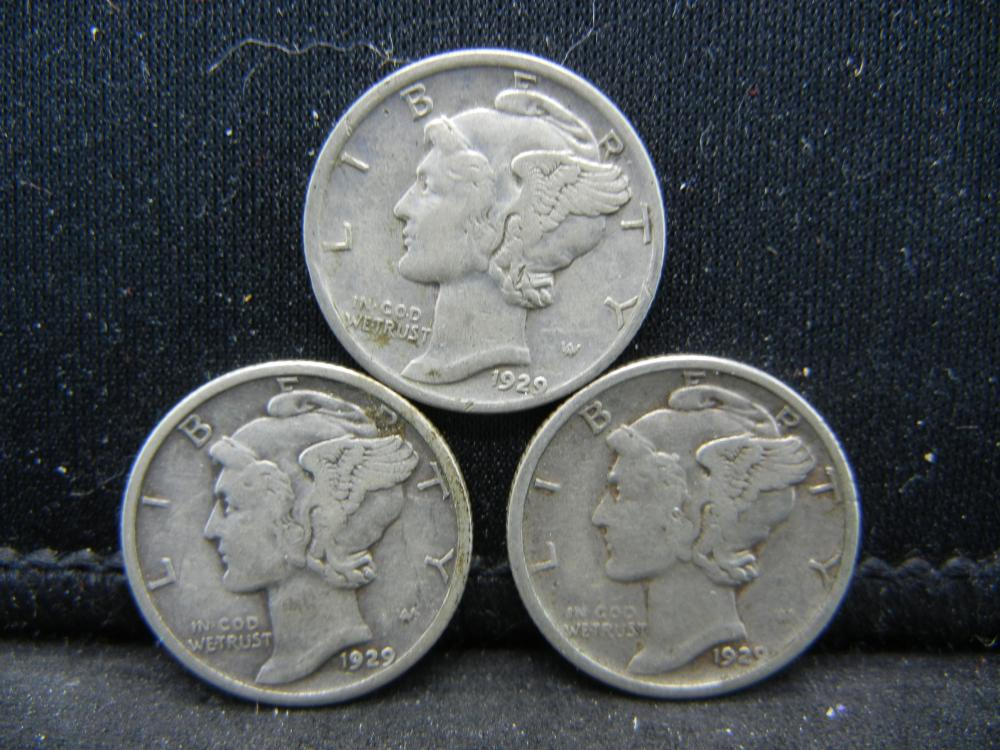1929-P, D, S Mercury Dimes