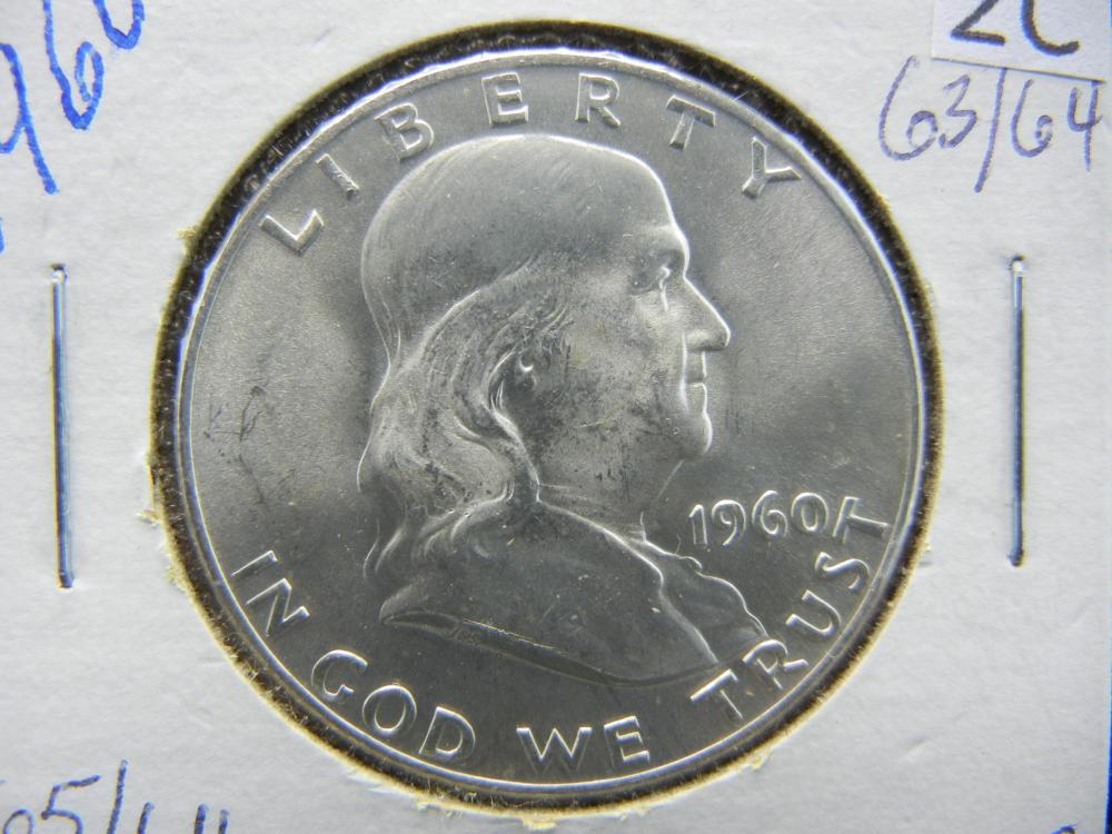 1960-D Franklin Half Dollar 90% Silver