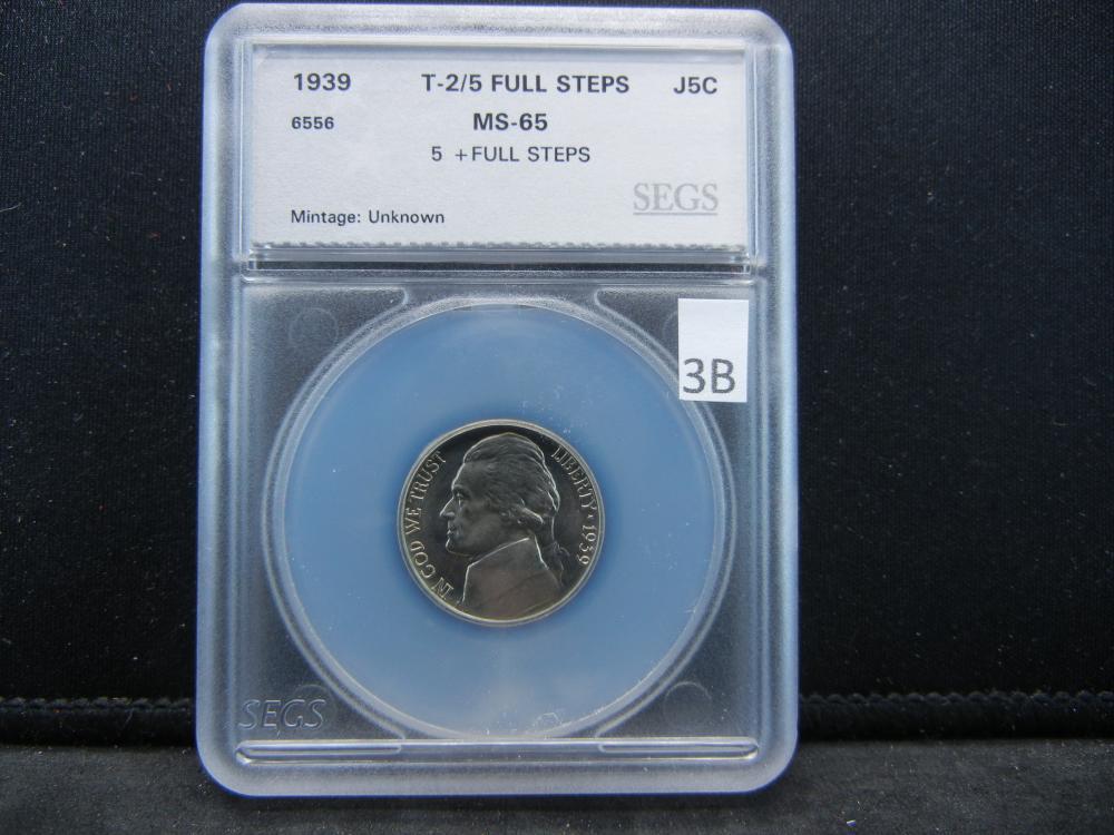 1939 SEGS MS65 2/5 Full Steps Jefferson Nickel