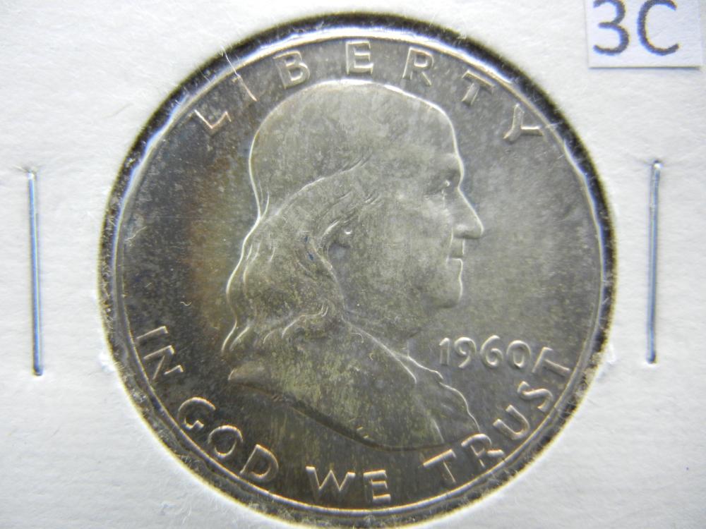 1960 Franklin Half Dollar 90% Silver