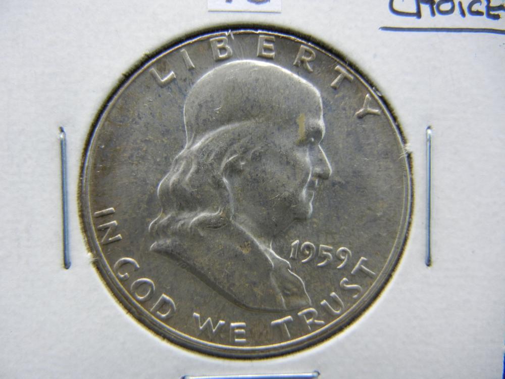 1959 Franklin Half Dollar 90% Silver