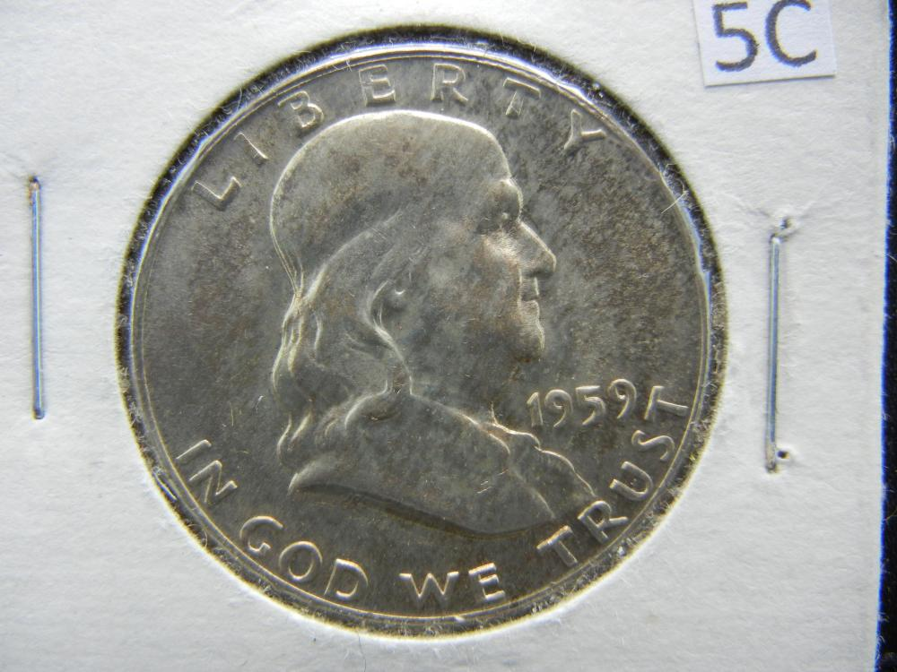 1959-D Franklin Half Dollar 90% Silver