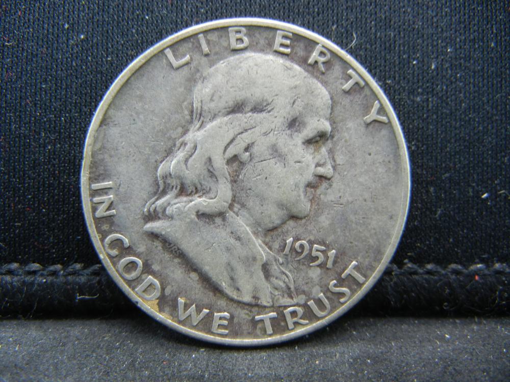 1951-D Franklin Half Dollar 90% Silver