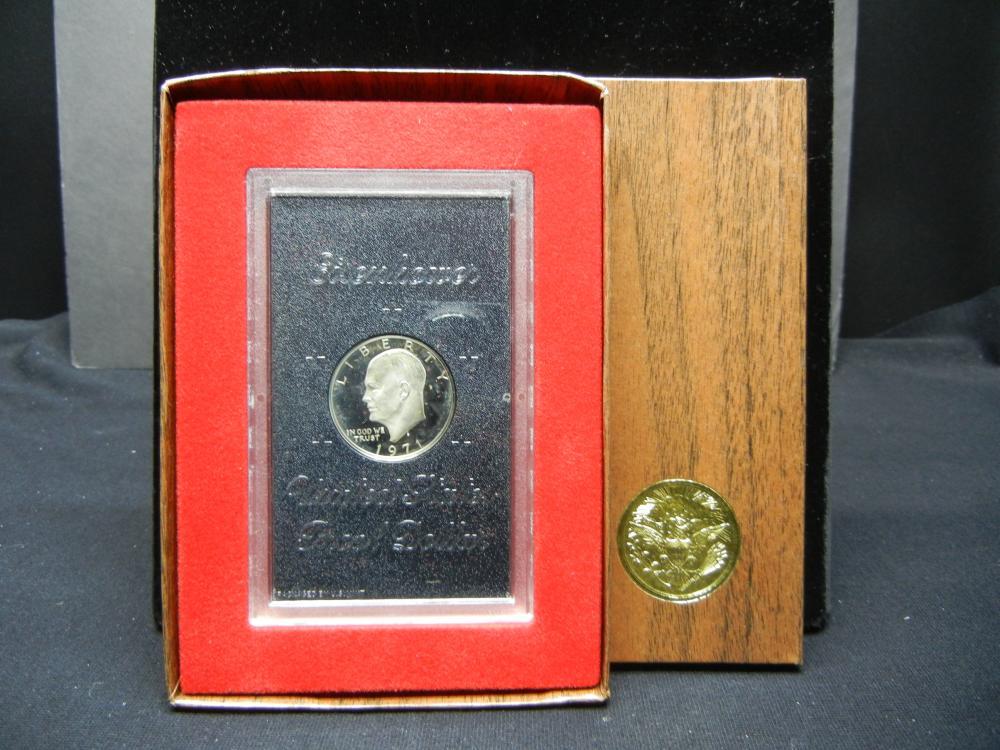 1971-S Eisenhower dollar in US Package