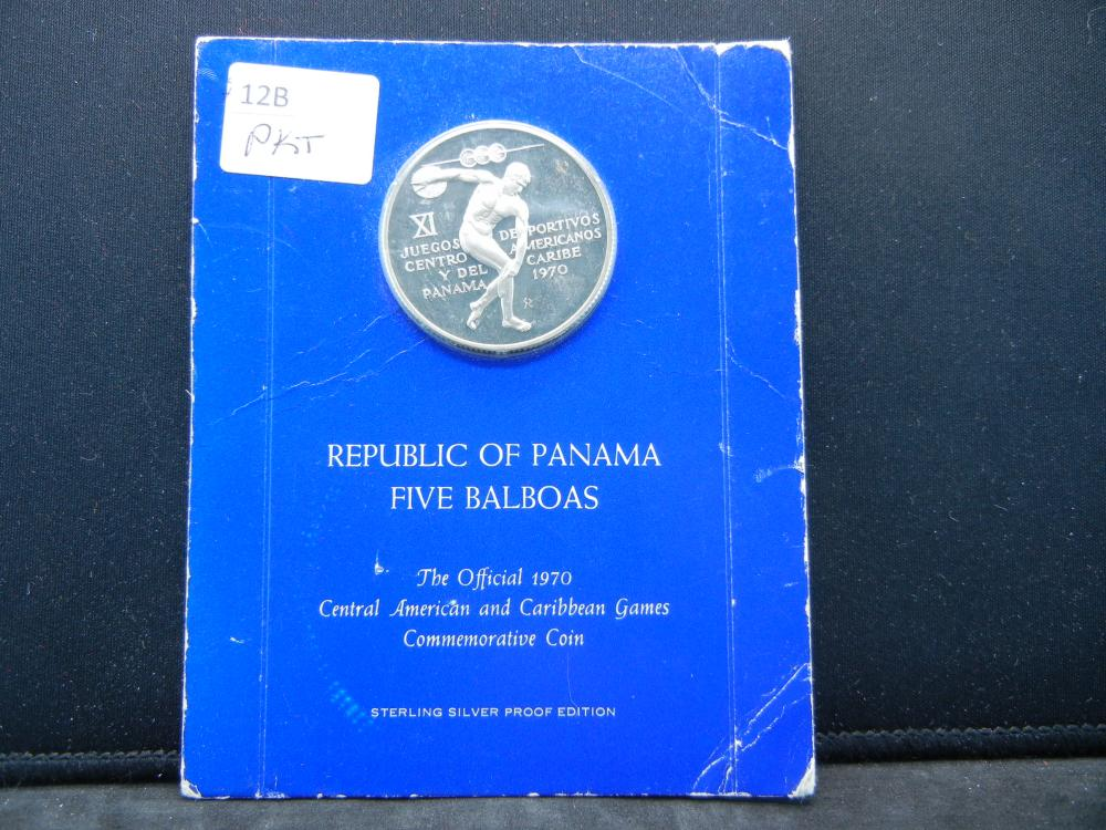 Republic of Panama 5 Balboas Coin. 1970
