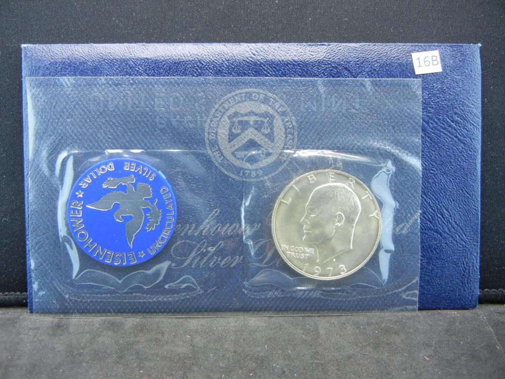 1973-S Eisenhower UNC 40% Silver Dollar