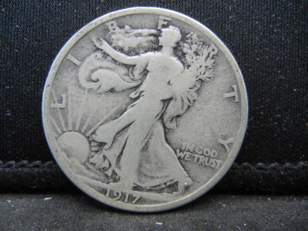 1917-D Reverse Mint Walking Liberty Half Dollar