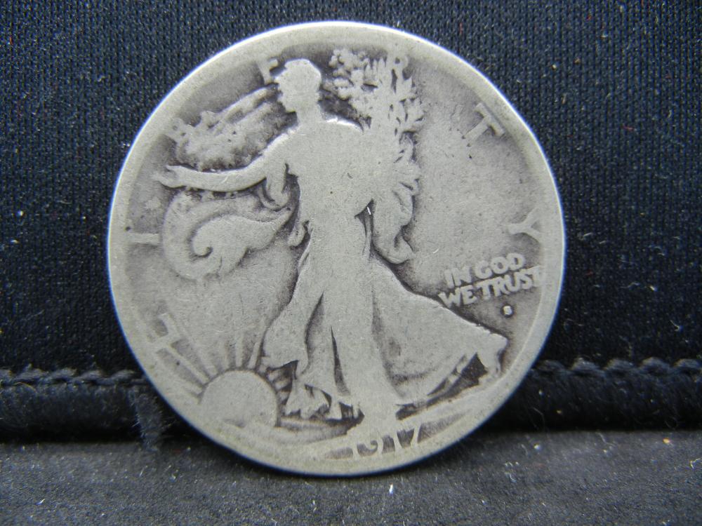 1917-S Obverse Mint Walking Liberty Half Dollar