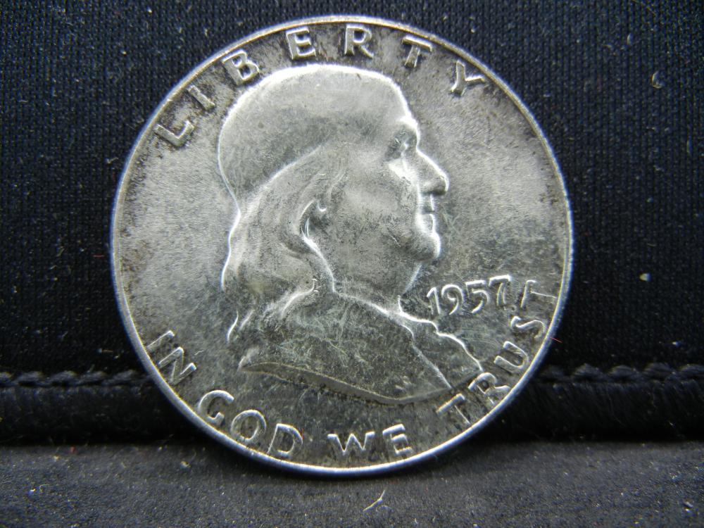 1957 Franklin Half Dollar 90% Silver