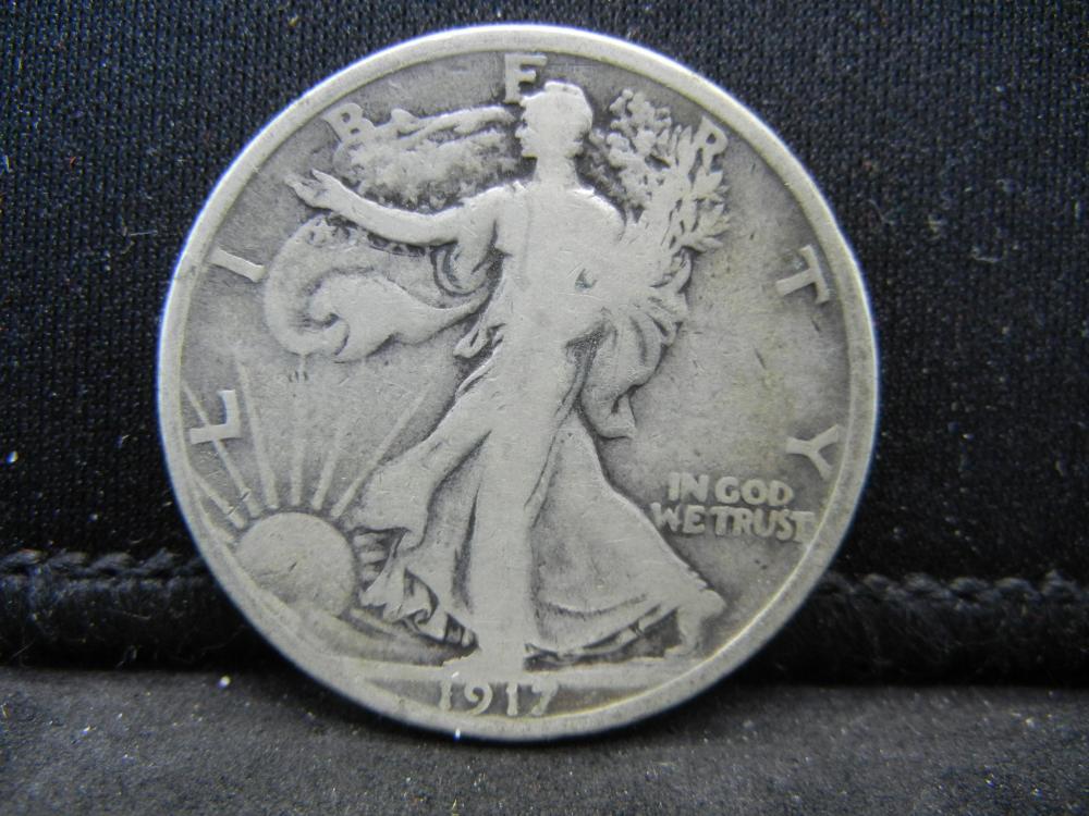 1917-S Reverse Walking Liberty Half Dollar