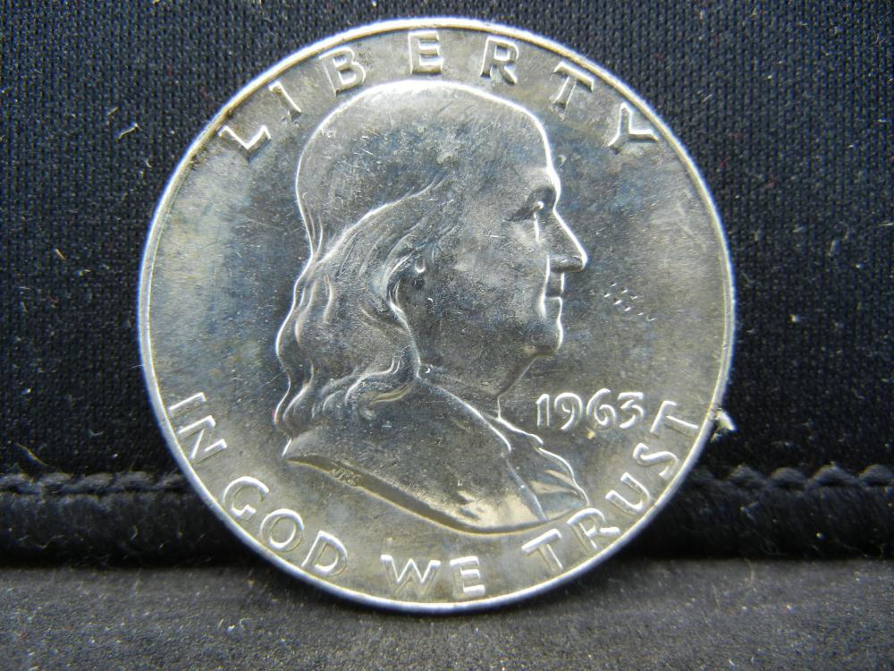 1963-D Franklin Half Dollar 90% Silver