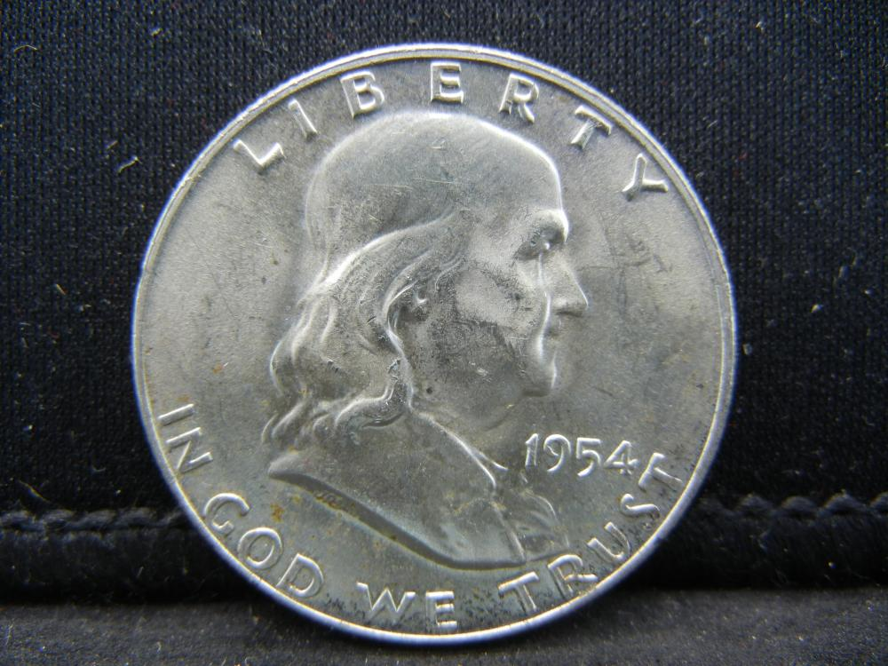 1954-D Franklin Half Dollar 90% Silver