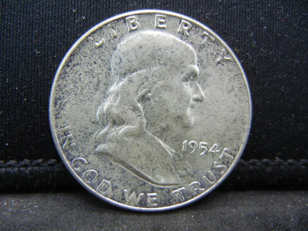 1954 Franklin Half Dollar 90% Silver