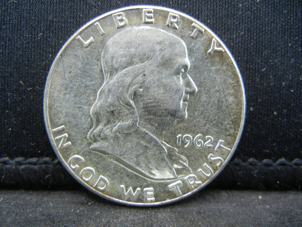 1962 Franklin Half Dollar 90% Silver