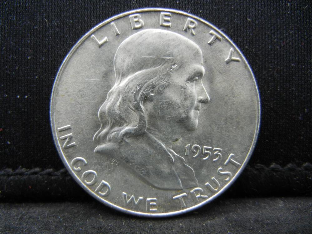 1953-D Franklin Half Dollar 90% Silver