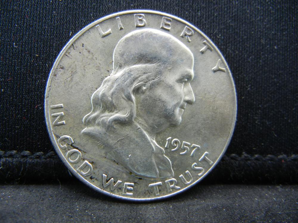 1957-D Franklin Half Dollar 90% Silver