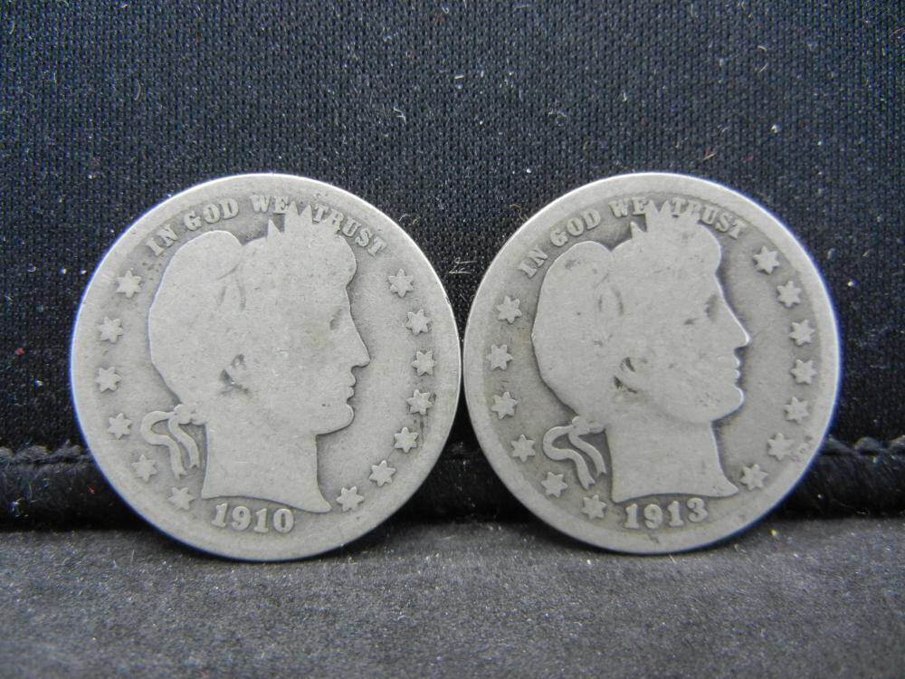 1910, 1913 Barber Quarter