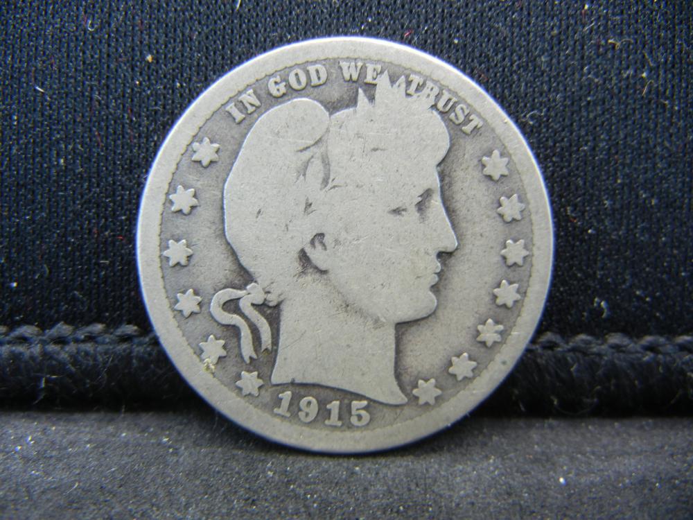 1915-S Barber Quarter