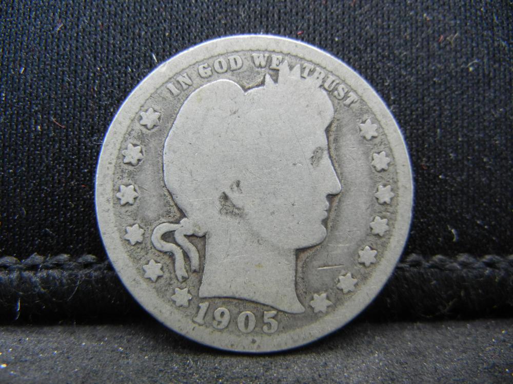 1905 Semi Key Date Barber Quarter