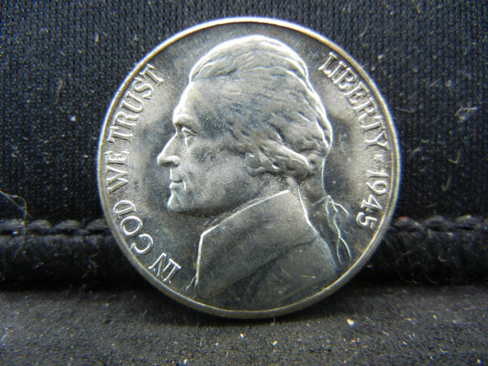 1945-S Lamination 35% Silver Jefferon Nickel