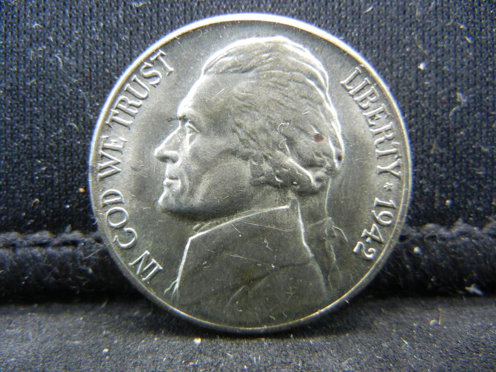 1942-S 35% Silver Jefferson Nickel