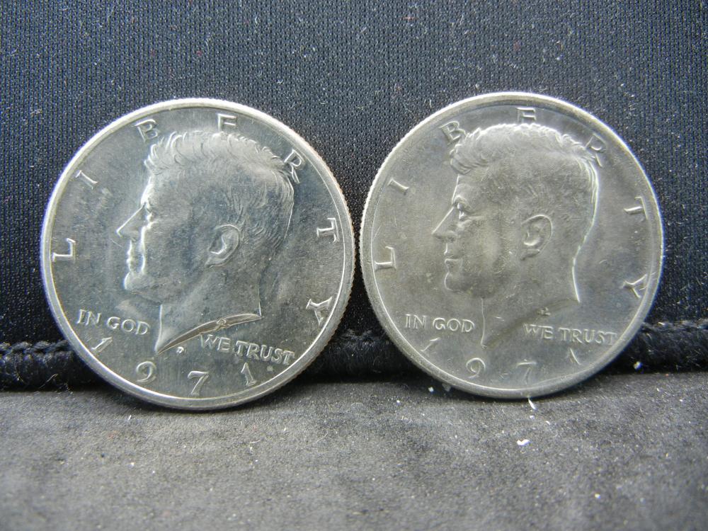 1971-P, D  Kennedy Half Dollars