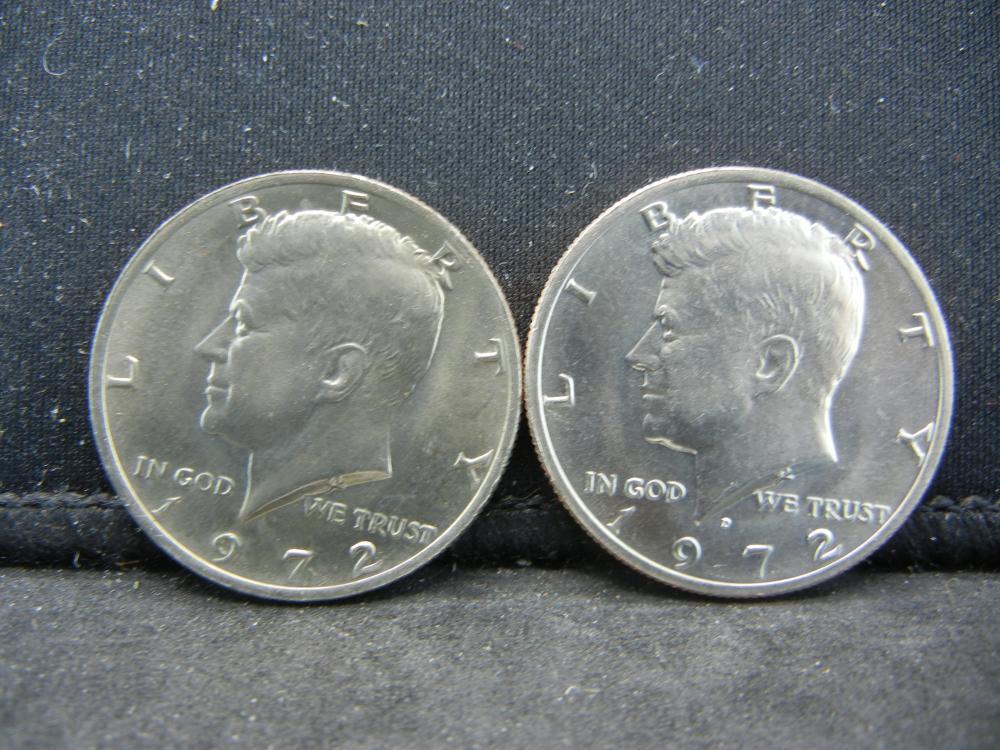 1972-P, D  Kennedy Half Dollars