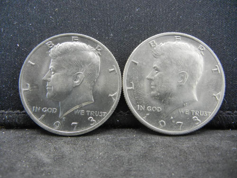 1973-P, D  Kennedy Half Dollars