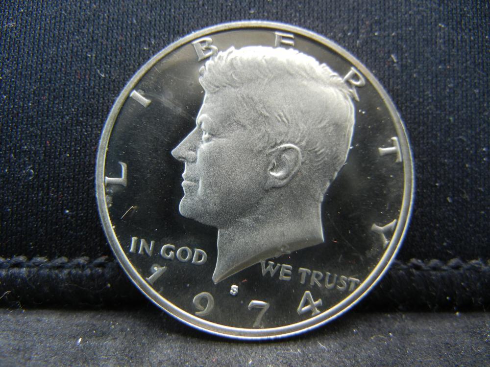 1974-S Proof  Kennedy Half Dollars