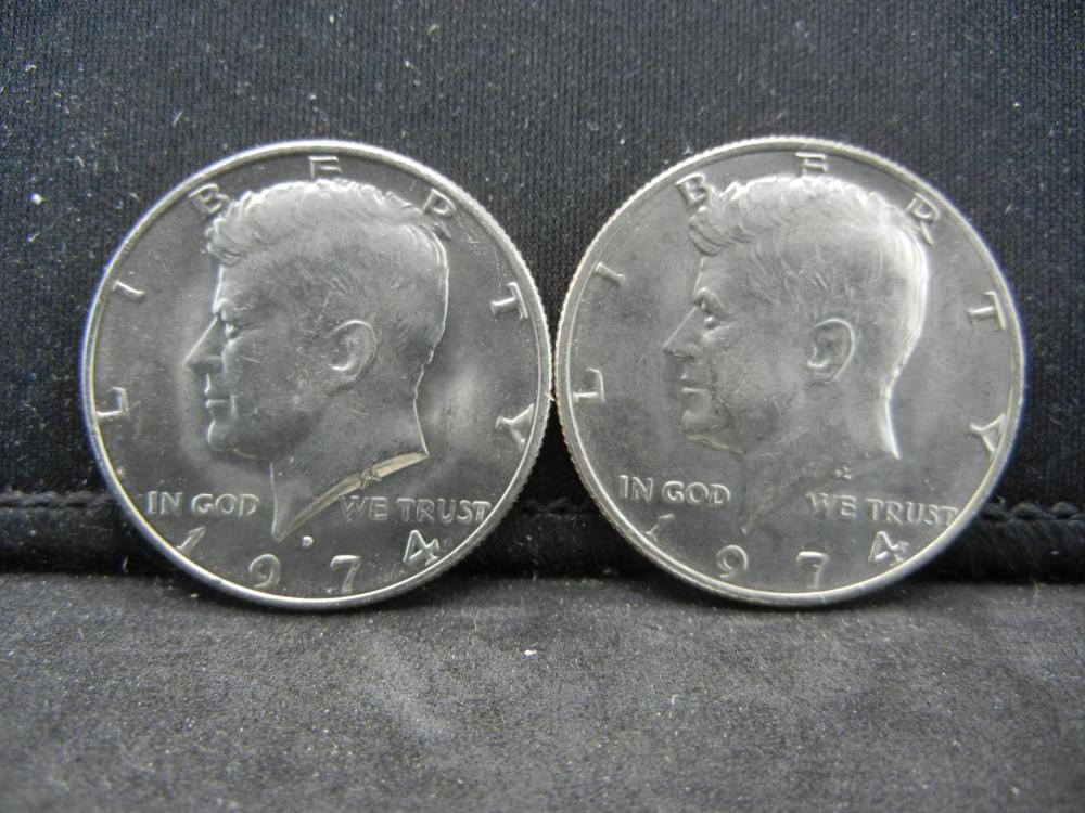 1974-P, D  Kennedy Half Dollars