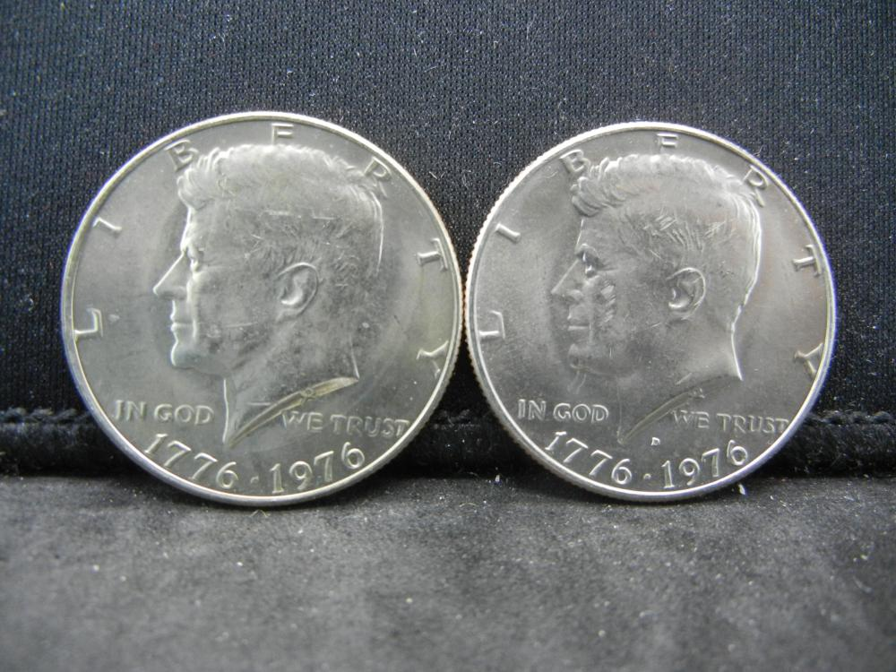 1976-P, D  Kennedy Half Dollars