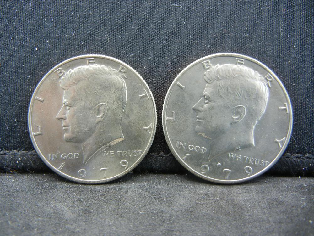 1979-P, D Kennedy Half Dollar