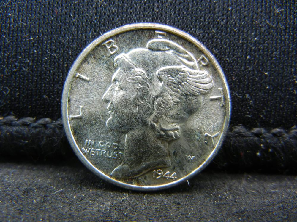 1944 Gem BU Mercury Dime