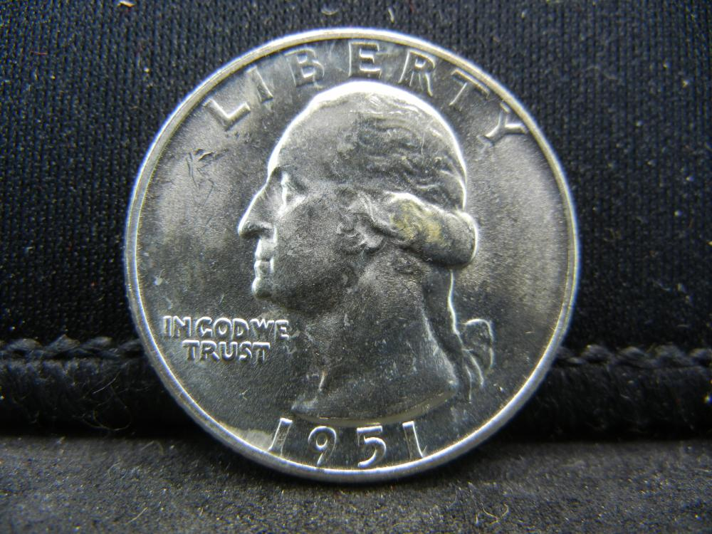 1951-D Washington Quarters 90% Silver