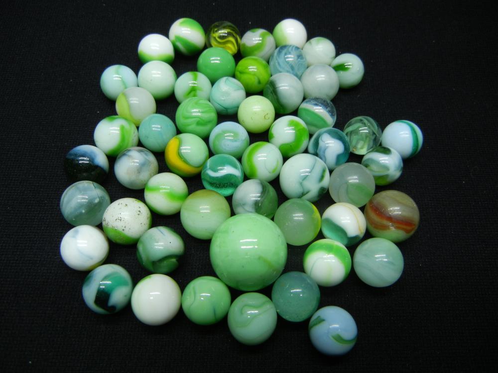 Jar of Jade Green Marbles