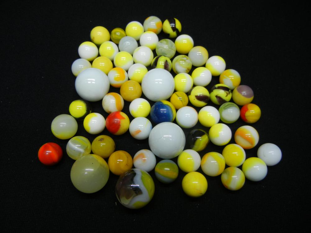 Jar of Yellow Marbles