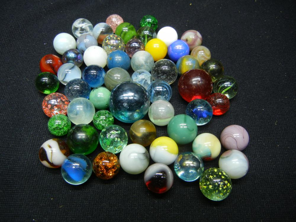 Jar of Multicolored Marbles
