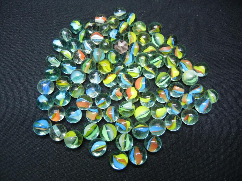 Jar of Cat Eye Marbles