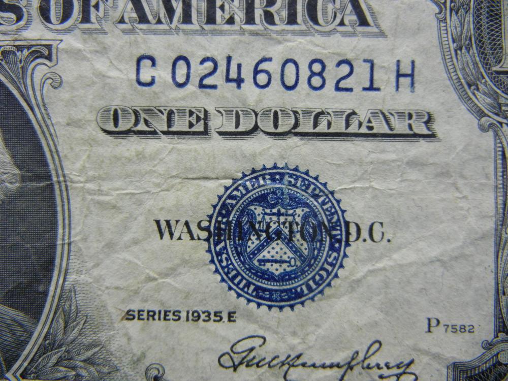1935 E One Dollar Silver Certificate