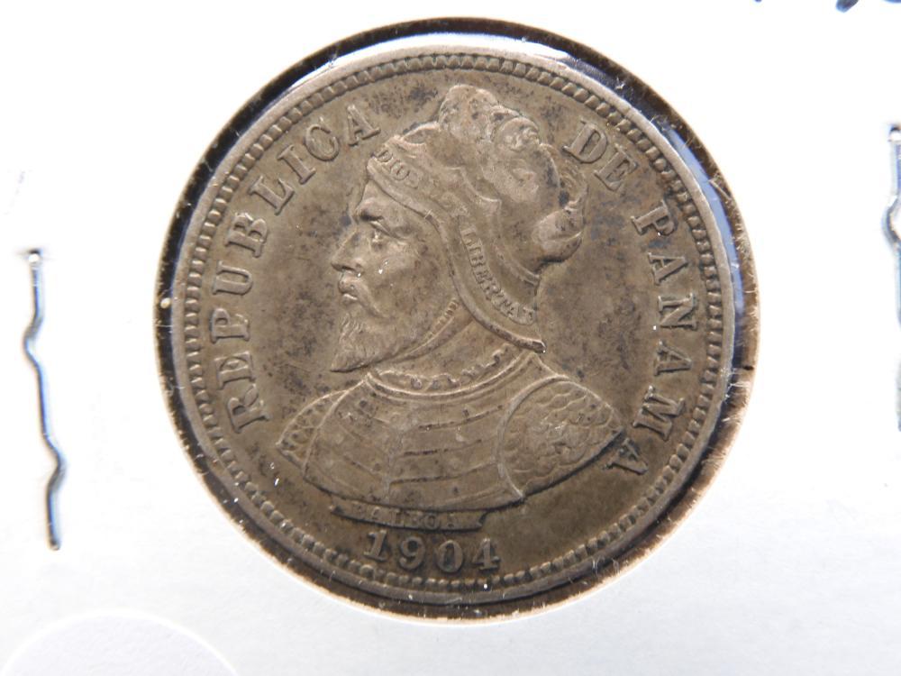 1904-10 Centesimos From Panama 90% Silver