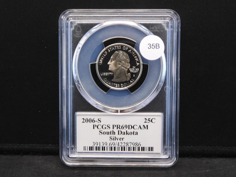 2006-S South Dakota Silver Washington Quarter PCGS PR69 DCAM