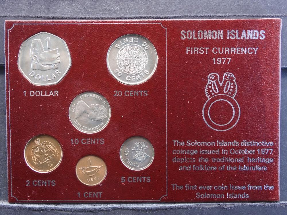 1977 First Currency Of Solomon Islands. 6 Coins. Uncirculated Set.