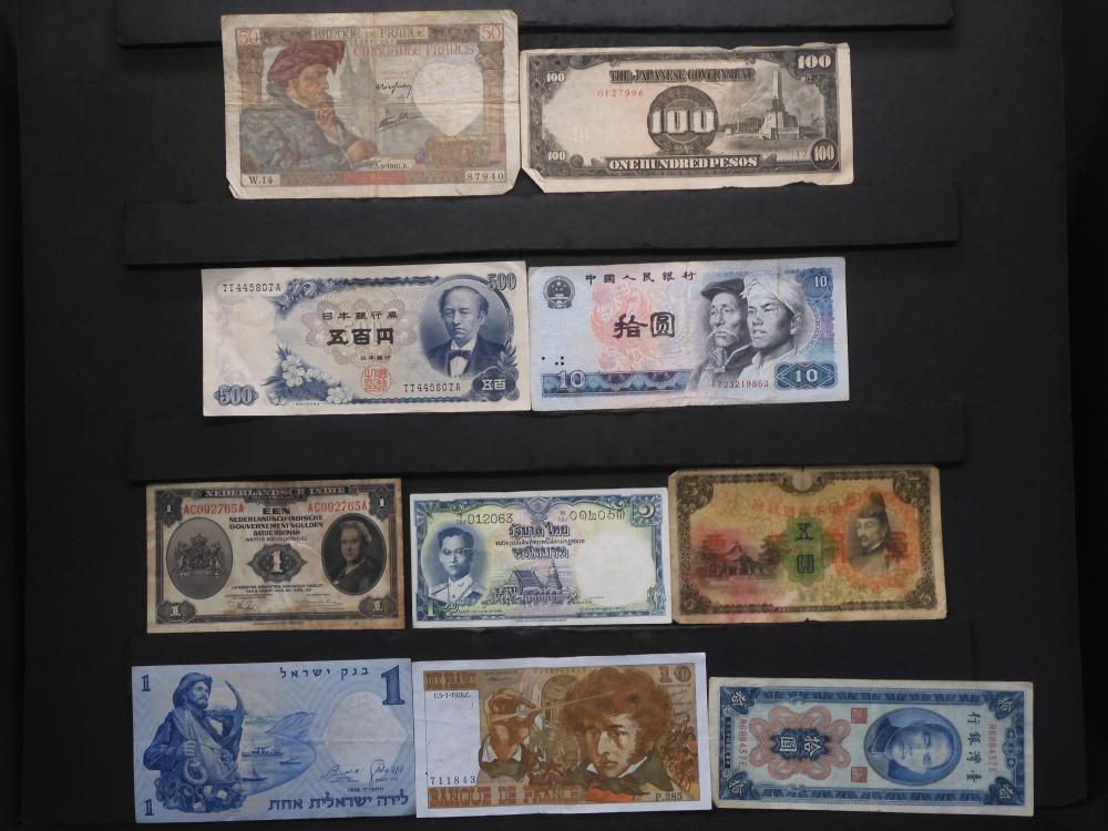 10 Assorted Foreign Currency.