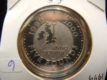 1999 Great Britain 5 Pounds.  New Millennium. Brilliant Uncirculated.