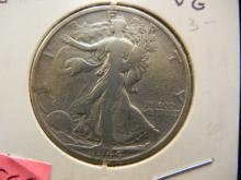 1944-S Silver Walking Liberty 50c, High Grade!